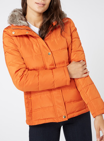 Orange Padded Coat