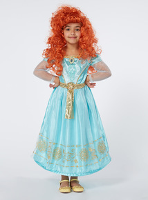 Kids Turquoise Disney Merida Costume (3-10 Years)