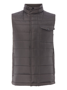 Grey Quilted Gilet