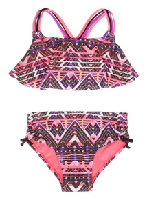 Purple Tribal Macrame Bikini Set (5 - 14 years)