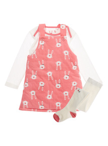 Girls Pink Wadded Bunny Set (0-24 months)