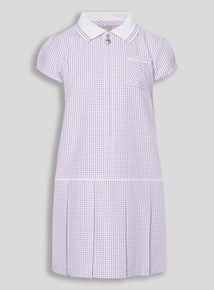 Lilac Sporty Gingham Dress (3 - 12 years)