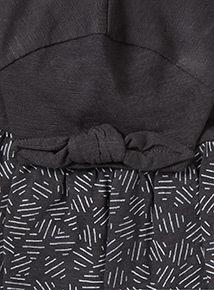 Black Printed Top And Leggings Set (9 months-6 years)