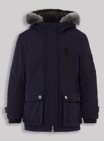Navy Parka Coat (3-14 years)
