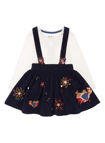 Girls Navy Robin Skirt Set (9 months - 5 years)
