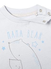 Blue Mama Bear and Me T-Shirt (Newborn -12 months)