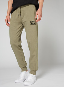 Russell Athletic Khaki Flock Print Jogger