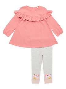 Pink Frill Top and Legging Set (0-24 months)