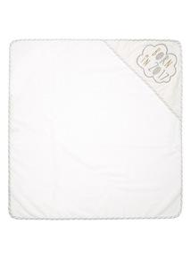 White Slogan Towel