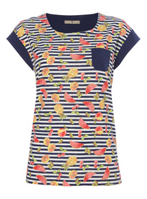 Stripe Fruit Pocket T-Shirt