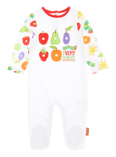 Baby White Very Hungry Caterpillar Sleepsuit