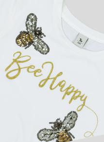 Cream 'Bee Happy' T-Shirt (3 - 14 years)