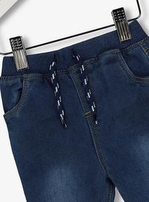Blue Denim Rib Waist Jeans (0-24 months)