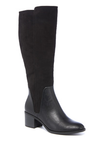Black Long Leg Boot