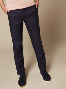 Premium Navy Linen Trousers