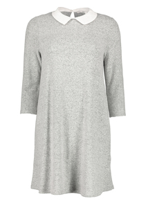 Grey Peter Pan Collar Dress