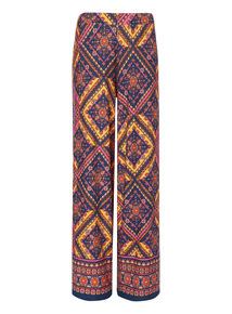 Pattern Palazzo Trousers