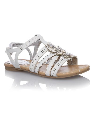 9baee01c337a Kids Girls White Floral Gladiator Sandals