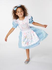 Blue Disney Alice In Wonderland Costume (3-10 years)