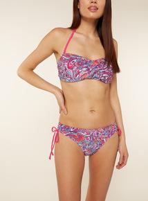Paisley Print Bandeau Bikini Top