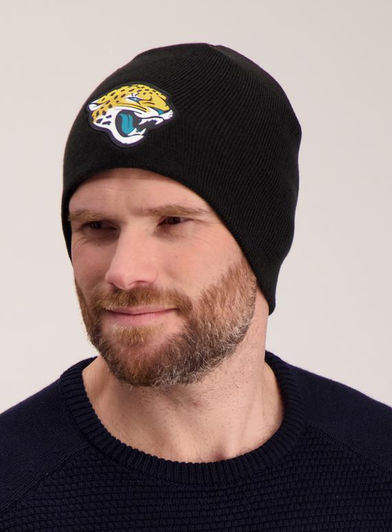 Menswear NFL Black Jacksonville Jaguars Beanie Hat  49cb2b1ceeb