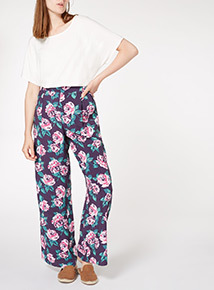 Floral Print Palazzo Trouser