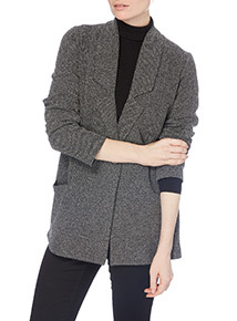 Longline Textured Duster Jacket