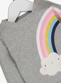 Grey Rainbow Sweatshirt (0-24 Months)