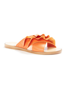 'Made in Italy' Ruffle Mule Slippers