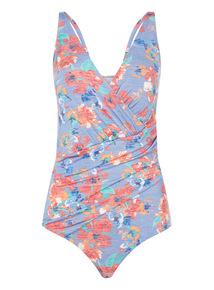 Floral Wrap Swim Suit