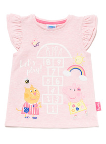 Pink Peppa Pig Embroidered Hopscotch T-Shirt (9 months-6 years)