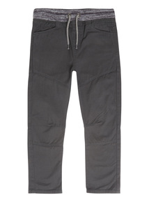 Boys Charcoal Woven Trousers (3-12 years)
