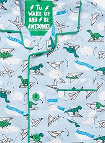 Blue Paper Planes Woven Pyjamas