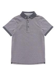 Grey Short Sleeve Polo Shirt (3-14 years)