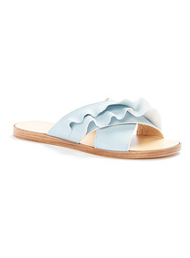 Online Exclusive 'Made in Italy' Ruffle Mule Slippers
