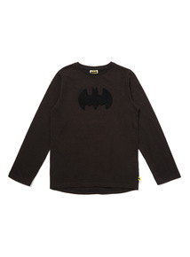 Black Batman Long-Sleeve Top (3-14 years)