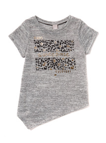 Grey Asymmetrical Snit Top (3 - 12 years)