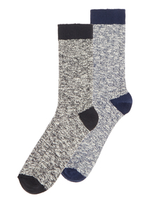 Multicoloured Twist Stay Fresh Socks 2 Pack