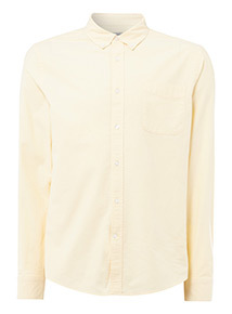 Yellow Chambray Stretch Oxford Shirt