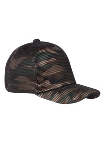 Green Camouflage Print Cap (3-16 years)