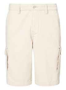 Stone Canvas Cargo Shorts