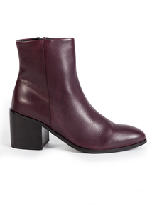 Premium Online Exclusive Aubergine Leather Boots