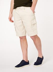 Stone Canvas Cargo Shorts