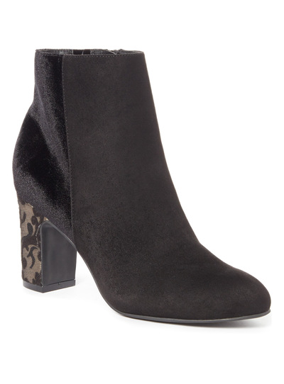 Jacquard Heel Ankle Boots
