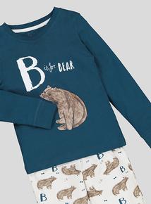 Bear Print Pyjamas 2 Pack (1-6 years)