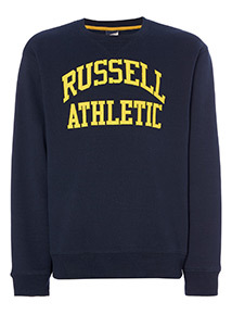 Online Exclusive Russell Athletic Navy Crew Jumper