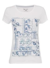 Multicoloured Patchwork T-Shirt