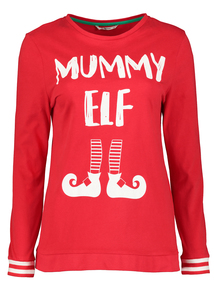 Christmas Elf Red Striped Family Pyjamas
