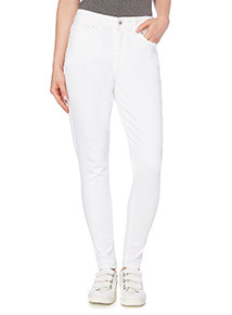 White Ankle Grazer Jeans