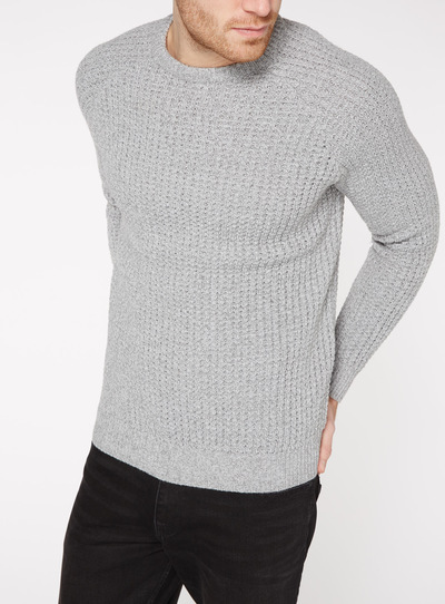 Grey Pineapple Stitch Jumper